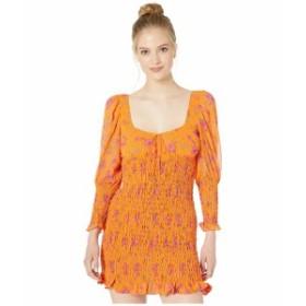 フォーラブアンドレモン レディース ワンピース トップス Peony Mini Dress Tangerine