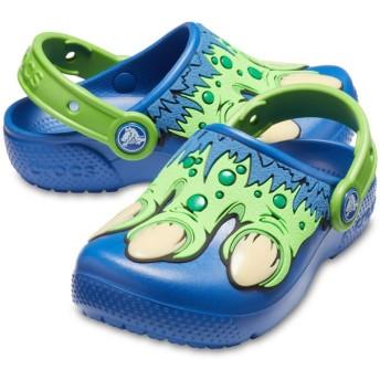 【クロックス公式】 クロックス ファン ラブ クリーチャー クロッグ キッズ Kids' Crocs Fun Lab Creature Clog ボーイズ、キッズ、子供用、男の子 ブルー/青 14cm,15cm,15.5cm,16.5cm,17.5cm,18cm,18.5cm,19cm,19.5cm,20cm,21cm clog クロッグ サンダル