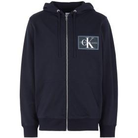《期間限定 セール開催中》CALVIN KLEIN JEANS メンズ スウェットシャツ ブルー S コットン 100% CHEST CHAMBRAY MONOG