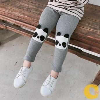 レギンス 子供 レギンパン 女の子 レギンスパンツ 子供服 キッズ ボトムス 100%綿 パンツ ストレッチ ズボン パンダ 送料無料