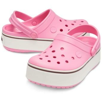 【クロックス公式】 クロックバンド プラットフォーム クロッグ GS Girls' Crocband Platform Clog ガールズ、キッズ、子供用、女の子 ピンク/ピンク 18.5cm,19cm,19.5cm,20cm,21cm clog クロッグ サンダル