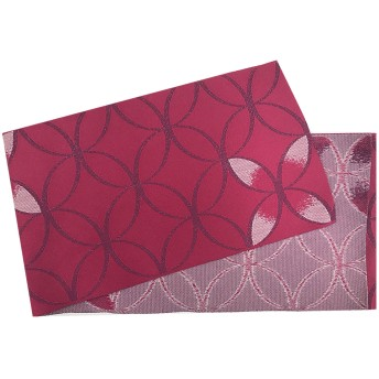 浴衣・着物の帯 - ホンコンマダム 浴衣 レディース 帯 かすれ七宝 濃桃 日本製 オリジナル織り柄 半幅帯 第一会場(d5609) (帯単品)