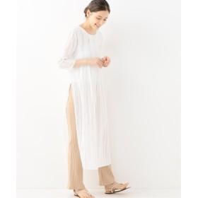 Spick and Span ストライプタックドレス◆ ホワイト フリー