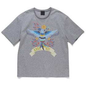 アナスイ ANNA SUI × GINZA鳥柄Tシャツ レディース ライトグレー S 【ANNA SUI】