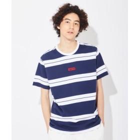 Levi's ベイビータブボーダーTシャツ メンズ ネイビー