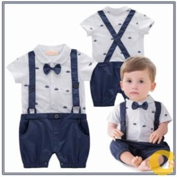キッズロンパース フォマール ベビー服 レイヤードロンパース 男の子 オールインワン 新生児 Tシャツ パンツ 肌着 キッズ服 カワイイ