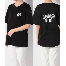 アナスイ ANNA SUI × GINZAロゴTシャツ半袖 レディース クロ S 【ANNA SUI】