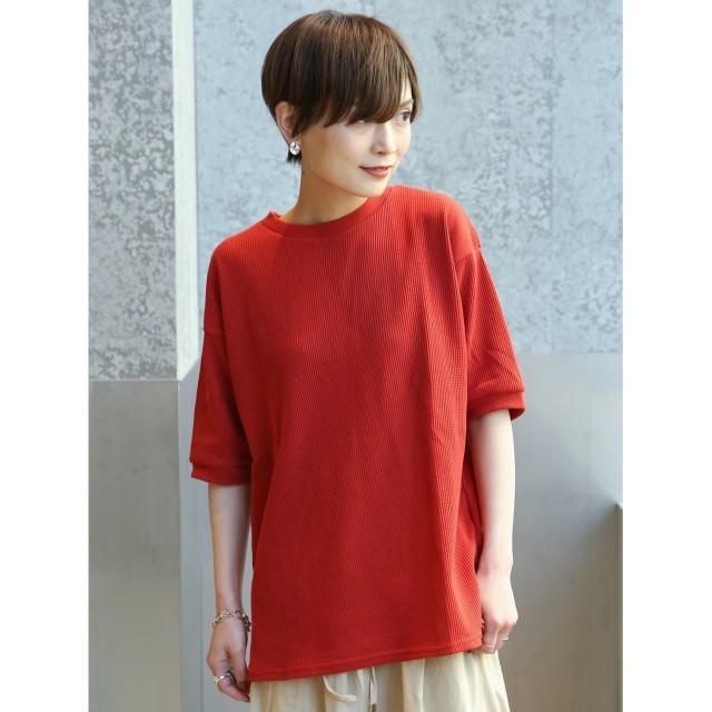 【オンワード】 koe(コエ) ワッフルTシャツ Red F レディース 【送料無料】