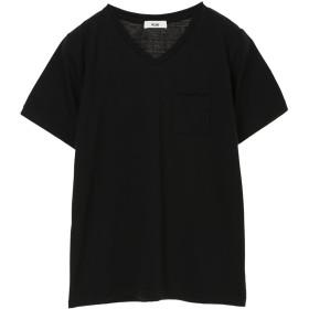 【オンワード】 koe(コエ) OE天竺VネックTシャツ Black F レディース 【送料無料】