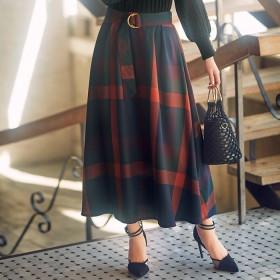 GeeRA 【3L】ビッグチェックフレアースカート 3L レディース 5,000円(税抜)以上購入で送料無料 フレアスカート 夏 レディースファッション アパレル 通販 大きいサイズ コーデ 安い おしゃれ お洒落 20代 30代 40代 50代 女性 スカート