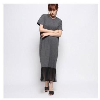 ラナン Ranan 裾切替ロング丈ワンピース (チャコール/ブラック)