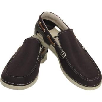【クロックス公式】 ビーチライン ボート スリップオン メン Men's Beach Line Boat Slip-On メンズ、紳士、男性用 ブラウン/茶 25cm,26cm,27cm,28cm,29cm shoe 靴 シューズ