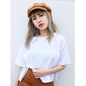 エモダ サイドスリットロゴTシャツ レディース ホワイト F 【EMODA】