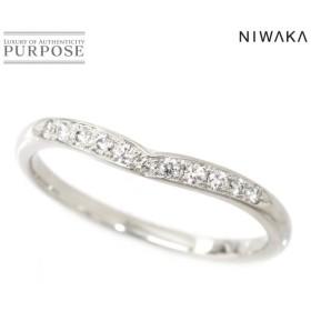 俄 ニワカ ダイヤ 15号 リング Pt950 プラチナ 指輪 睡蓮 ダイア NIWAKA
