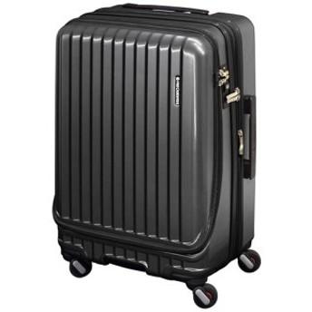 (Bag & Luggage SELECTION/カバンのセレクション)フリクエンター マーリエ スーツケース Mサイズ フロントオープン 拡張 静音 USB Malie 55L~66L 1-281/ユニセックス ガンメタリック 送料無料