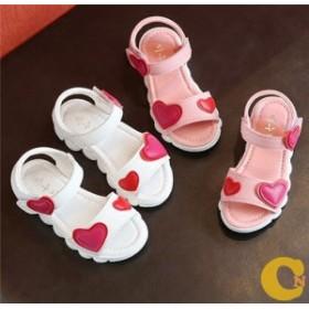 子供靴 サンダル シューズ キッズ 姫系 女の子 滑り止め 女児用 夏物 ビーチサンダル
