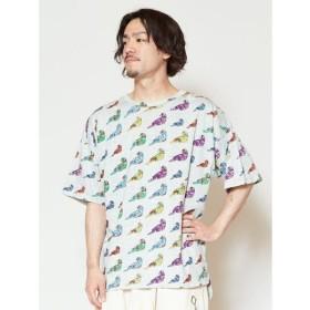 チャイハネ yul バードプリントメンズTシャツ IDS 9519 メンズ グレー Free 【CAYHANE】