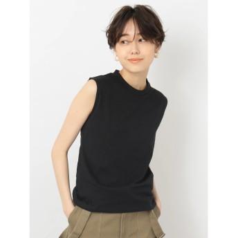 【オンワード】 koe(コエ) ・オーガニックノースリーブベーシックTシャツ Black F レディース 【送料無料】