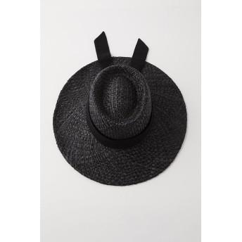 マウジー moussy RAFFIA BASIC HAT (ブラック)