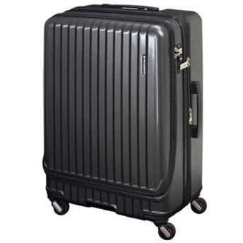 (Bag & Luggage SELECTION/カバンのセレクション)フリクエンター マーリエ スーツケース フロントオープン 拡張 86L/98L Lサイズ USB Malie 1-280/ユニセックス ガンメタリック 送料無料