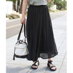 ソーシャルガール Social GIRL スラブロングフレアスカート (ブラック)