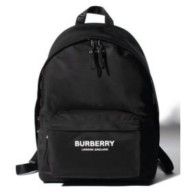 (IMPORT SELECTION/インポートセレクション)【BURBERRY】Logo print ナイロンバックパック/レディース BLACK
