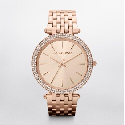 新年特惠4折起| MICHAEL KORS時尚紐約風玫瑰金腕錶/MK3192|情人節寵愛禮