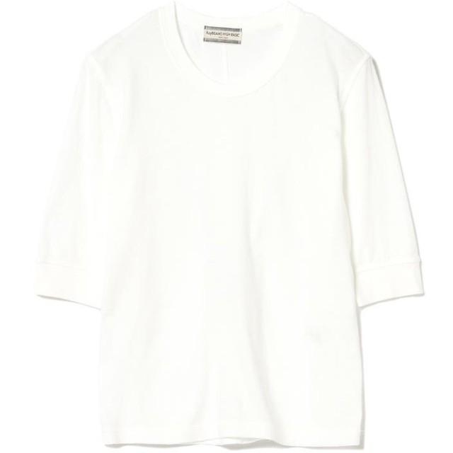 ビームス ウィメン Ray BEAMS High Basic / 5分袖 クルーネック Tシャツ レディース WHITE ONESIZE 【BEAMS WOMEN】