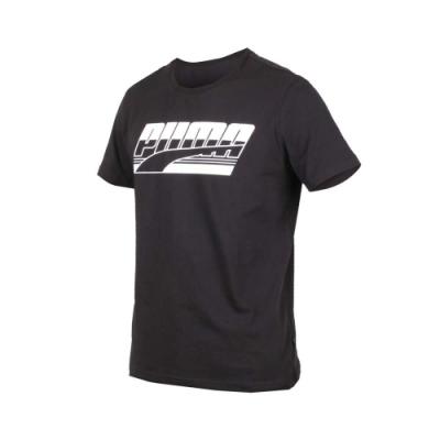 PUMA 男基本系列短袖T恤-慢跑 路跑 黑白