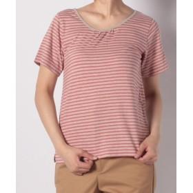 (FINE OUTLET/ファインアウトレット)SM2 抗菌加工ボーダー半袖Tシャツ/レディース ピンク