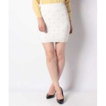 (FINE OUTLET/ファインアウトレット)【E hyphen world gallery】パールドットタイトスカート/レディース オフホワイト