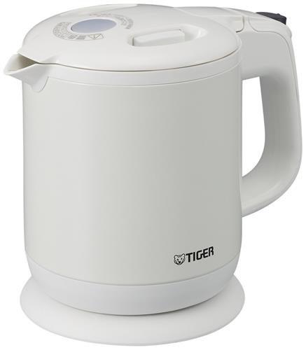 【日本代購】虎牌電水壺600ml 珍珠白色蒸氣框架子 Pch-G060-WP Tiger