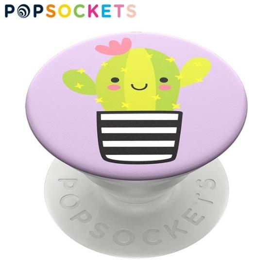 可愛仙人掌【PopSockets 泡泡騷二代 PopGrip】美國 No.1 時尚手機支架 可替換泡泡帽