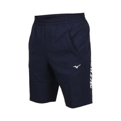 MIZUNO 男平織短褲-五分褲 慢跑 路跑 美津濃 丈青藍白