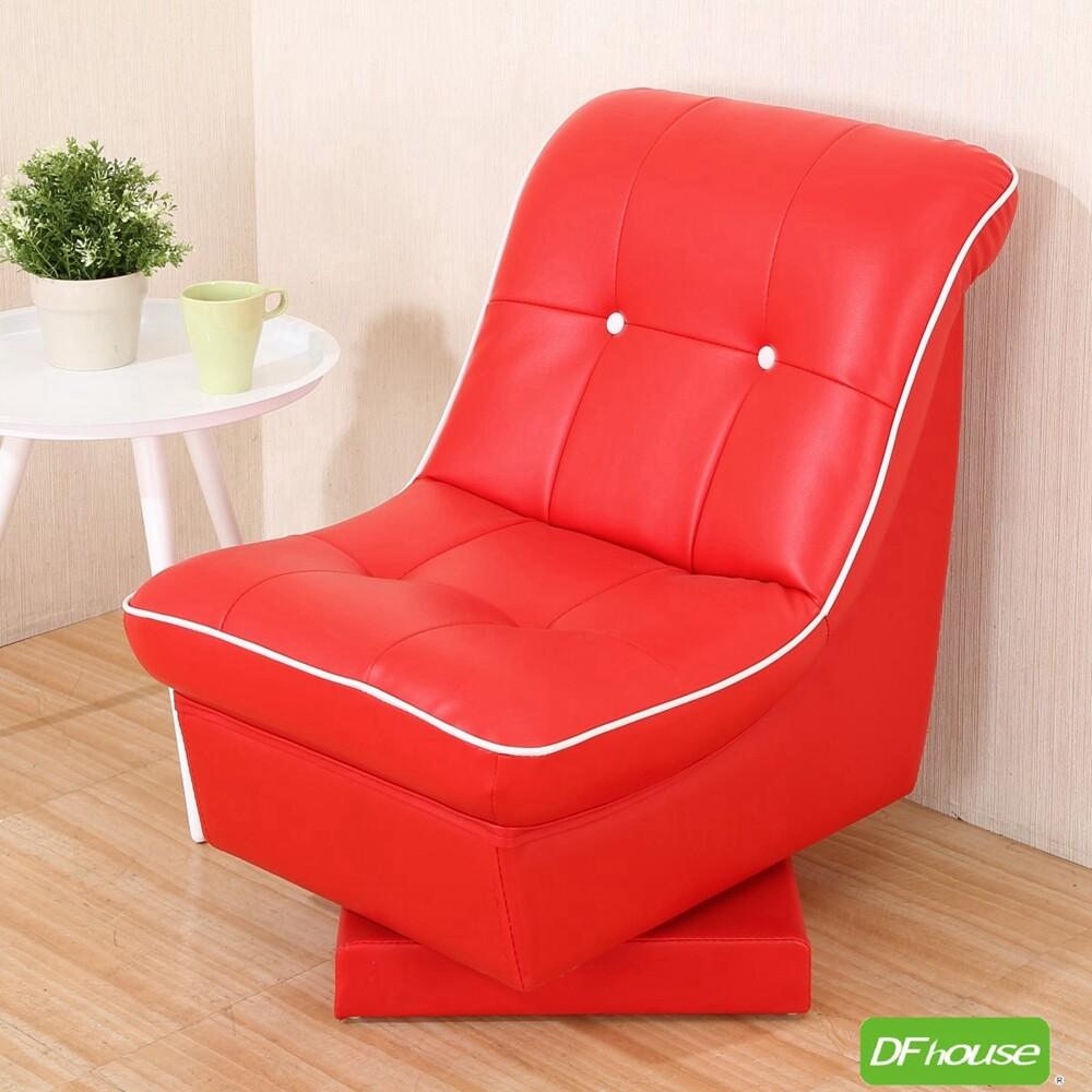 dfhouse豆豆龍-單人旋轉沙發椅 台灣製造-紅色 旋轉沙發椅 沙發 小沙發 皮沙發