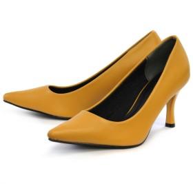 AmiAmi カラーヒールVer 走れるパンプス!低反発&サイドクッション仕様!7cmヒール美脚ポインテッドトゥパンプス イエロー レディース 5,000円(税抜)以上購入で送料無料 パンプス 夏 レディースファッション アパレル 通販 大きいサイズ コーデ 安い おしゃれ お洒落 20代 30代 40代 50代 女性 靴 シューズ