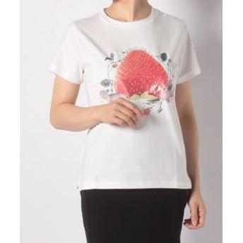 (FINE OUTLET/ファインアウトレット)【E hyphen world gallery】いちご姫Tシャツ Ladys/レディース オフホワイト