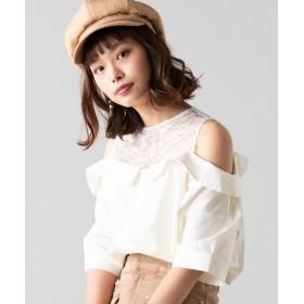 [マルイ]【セール】オープンショルダードッキングシャツ/ウィゴー(レディース)(WEGO)