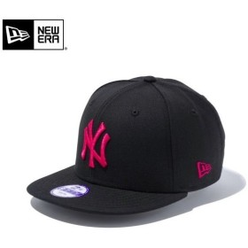 【メーカー取次】NEW ERA ニューエラ Youth キッズ用 9FIFTY MLB ニューヨーク ヤンキース ブラックXピンクロゴ 11308373 キャップ 子供用 帽子 ブランド