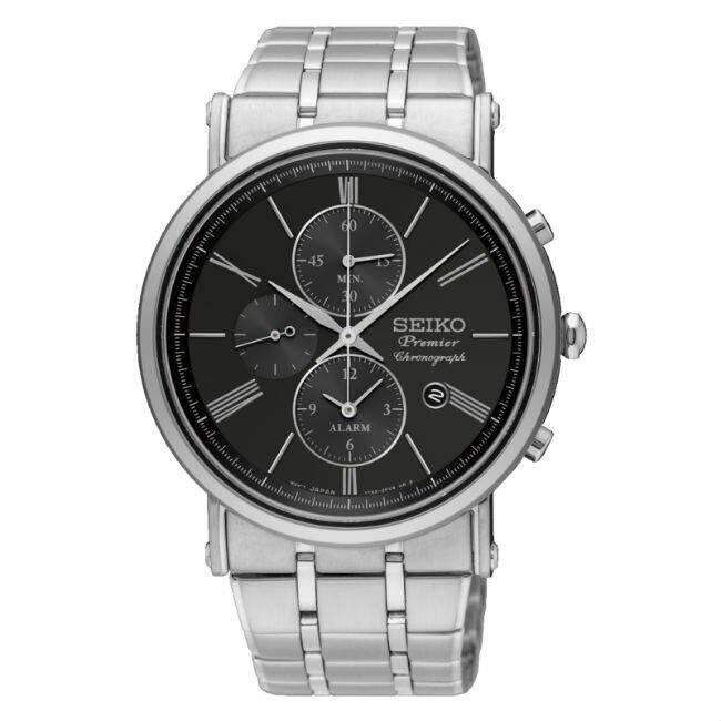 Seiko 精工錶 7T62-0LK0D(SNAF75J1) 正裝系列纖薄羅馬計時腕錶/黑面41mm