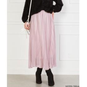 SpRay ラメプリーツスカート ピンク M レディース 5,000円(税抜)以上購入で送料無料 マキシスカート 夏 レディースファッション アパレル 通販 大きいサイズ コーデ 安い おしゃれ お洒落 20代 30代 40代 50代 女性 スカート