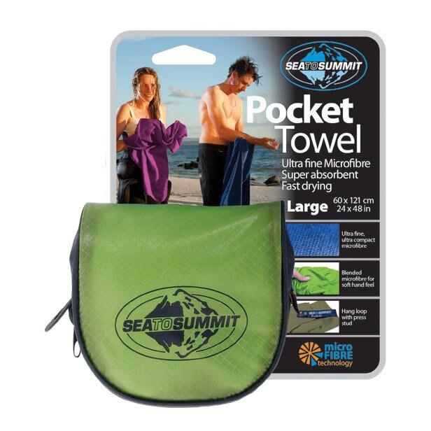 ├登山樂┤澳洲 Sea To Summit-L/萊姆綠  Pocket Towel  口袋型快乾毛巾- # APTL