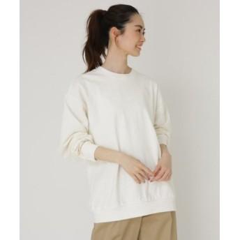 (BASE STATION/ベースステーション)ビッグシルエット 長袖 Tシャツ/レディース アイボリー(004)