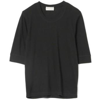 ビームス ウィメン Ray BEAMS High Basic / 5分袖 クルーネック Tシャツ レディース BLACK ONESIZE 【BEAMS WOMEN】