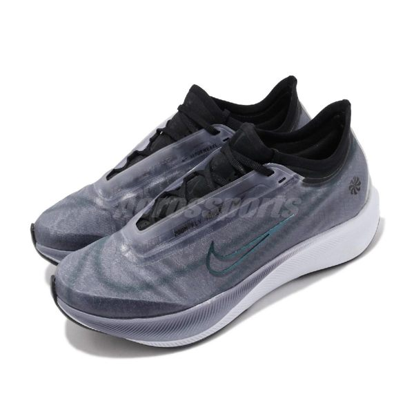 Nike 慢跑鞋 Wmns Zoom Fly 3 Rise 紫色 黑 襪套式 女鞋 運動鞋 【PUMP306】 CQ4483-500
