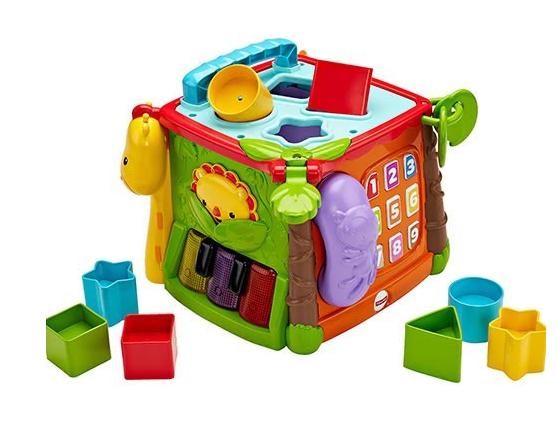 【紫貝殼】美國 Fisher-Price 費雪可愛動物積木盒