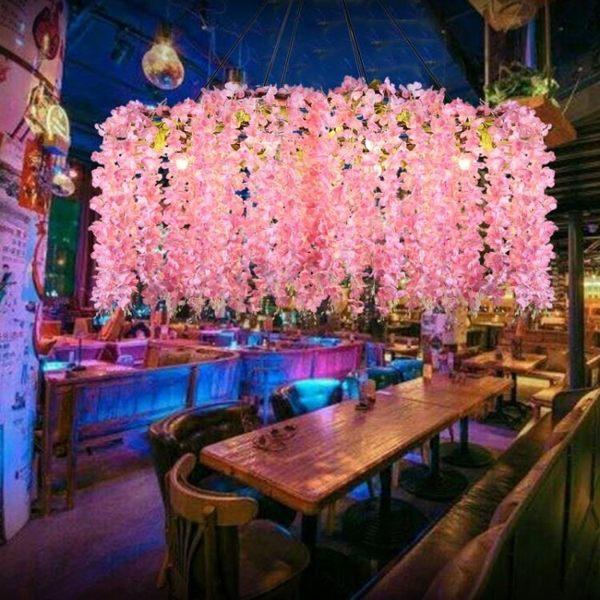 吊燈 植物繁花酒吧音樂餐廳火鍋店燒烤吧吧台裝飾 - 古梵希