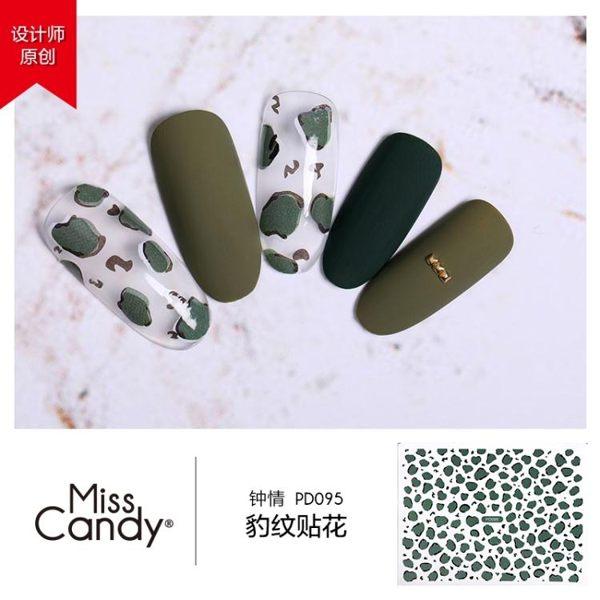 美甲飾品 豹紋指甲油貼花防水抖音網紅美甲貼紙貼片 金曼麗莎
