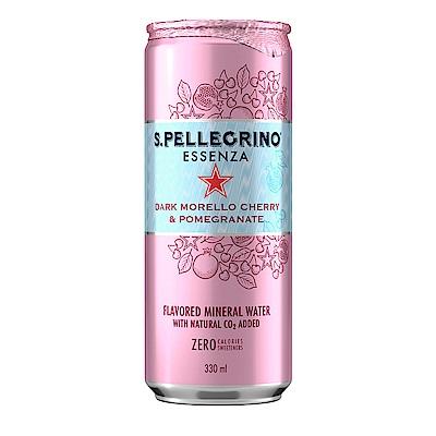 S.Pellegrino聖沛黎洛 零卡香氛氣泡飲-石榴櫻桃(330mlx24入)
