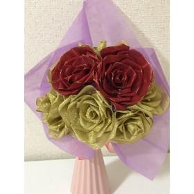 リボン薔薇花束